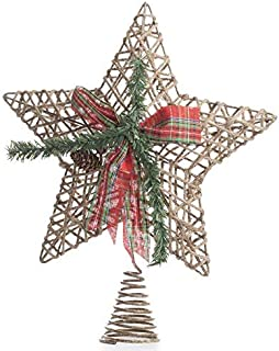 Factory Direct Craft Sparkling Jute Star Tree Topper | 2 Pieces