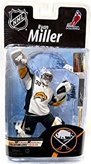 McFarlane Toys NHL Sports Picks Series 26 Action Figure Ryan Miller (Buffalo Sabres) White Jersey Gold Collector Level Chase