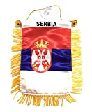 PRK 14 Serbien Serbische Flaggen für Autos, Zubehör, Aufkleber, kleine Mini-Banner, Design für Fenster, Rückspiegel, Stil Zubehör, Häuser, Fenster, haftet an Glas, Qualität