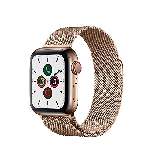Apple Watch Series 5 (GPS + Cellular, 40 mm)  Acero Inoxidable en Oro con Milanese Loop Oro