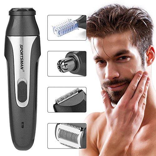 Neus Haar Trimmer, USB 5 in 1 Oplaadbare Waterdichte Elektrische Scheerapparaat Razor voor Mannen Grijs