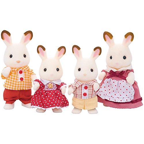 Sylvanian Families - Set di bambole, famiglia di coniglio al cioccolato