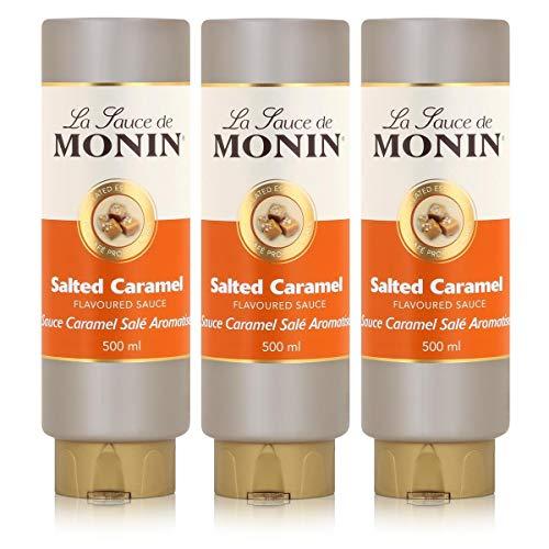 Monin Sauce Salted Caramel, 500 ml, 3er Pack