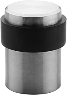 TPOHH Brushed Stainless Steel Cylindrical Floor Mount Door Stop, 1-3/4
