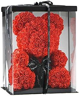 SUPERMOLON Oso Rosas Foam con Caja de Regalo Original - Rose Bear Oso de Rosas Artificiales - Regalo San Valentín, Enamora...