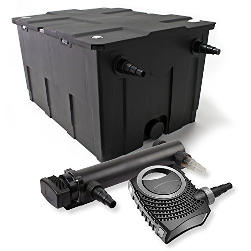 SunSun 1-Kammer Filter Set 60000l 36W UVC 3er Teich Klärer NEO10000 80W Pumpe