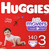 HUGGIES Little Movers Diapers, Size 3 (16-28 Lb.), Huge Pack (Packaging May Vary), 140 Count