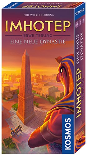 KOSMOS 694067 - Imhotep - Eine neue Dynastie, Erweiterung des Grundspiels, Strategiespiel mit viel Interaktion und Spieltiefe, Brettspiel für 2 bis 4 Spieler