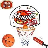 MUANSER Mini Wall Basketball Goal Backboard Rim Indoor Toys Set para Piscina, montado en la Pared con Red de Pelota y Bomba Portátil de Interior al Aire Libre para niños,B