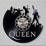 No Reloj de Pared de Disco de Vinilo Queen Vinyl Record Clock Decoración para el hogar Arte de la...