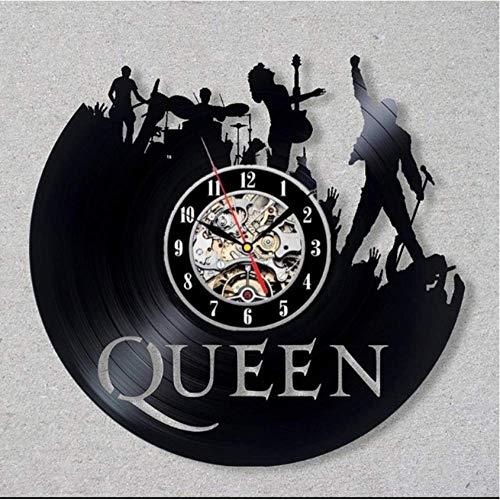 No Reloj de Pared de Disco de Vinilo Queen Vinyl Record Clock Decoración para el hogar Arte de la Pared