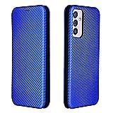 Dhongf Fundas para movil Samsung Galaxy A82 5G,Funda Móvil Samsung Galaxy A82 5G Magnetica Hebilla Antigolpes Funda con Solapa para Samsung Galaxy A82 5G Azul