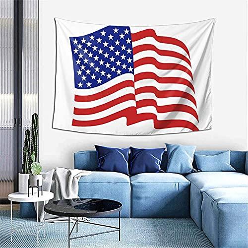 Tapiz de gotas de lluvia Tapiz para colgar en la pared Decoración del hogar Cortina de puerta para dormitorio Sala de estar al aire libre-60 * 40 '- Bandera estadounidense Volando