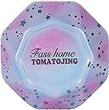 Lata de galletas de caramelo con tapa caja de metal de lata hermética octogonal vacía caja de almacenamiento de estaño regalo para regalo de joyería de pastelería de chocolate azul y rosa