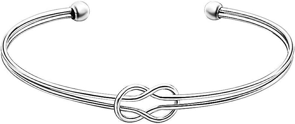 Kalapure 14K Gold Silver Plated Knot Infinity Popular popular Love Free Shipping New Bangle Bracel