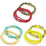 Norme Conjunto de Cadenas de Abalorios de DEC Cintura de Verano de 6 Piezas Abalorios de Cintura Coloridos Africanos Cadena de Cintura Joyería de Bikini para Mujeres Chicas