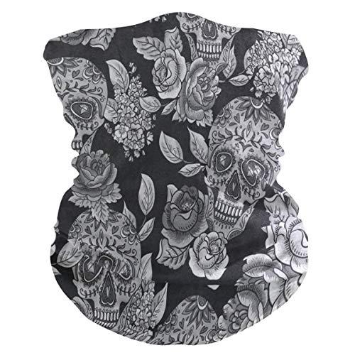 Trista Bauer Hornear dibujos animados cara bufanda bufanda cubierta polvo viento cuello calentador Bandana para mujeres hombres