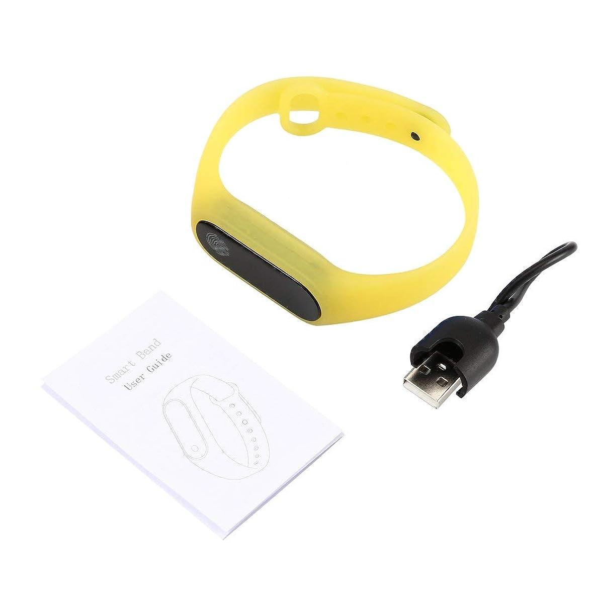 適合しました汚染されたどうやらSwiftgood 0.42インチOLEDディスプレイスマートバンド心拍数モニター時間表示スリープモニターIOS向けヘルスケアスマートバンド