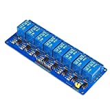 YBINGA Ciclo temporizador relé 8 módulo de relé Opto-aislado placa azul 12v Spot Steuermodul (tamaño: 12v) placa industrial para la industria del hogar