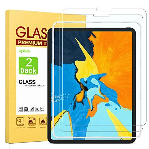Apiker [2 Stück] Schutzfolie für iPad Pro 11, iPad Pro 11 Panzerglas, 9H Härte, Bläschenfrei, 2.5D abger&et Kante, mühelosanzubringen