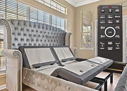 Sven & Son Split King Adjustable Bed Base Frame Platinum (Individual Head Tilt & Lumbar) USB Ports, Zero Gravity, Anti Snoring Interactive Dual Massage (Adjustable Base Only, Split King)