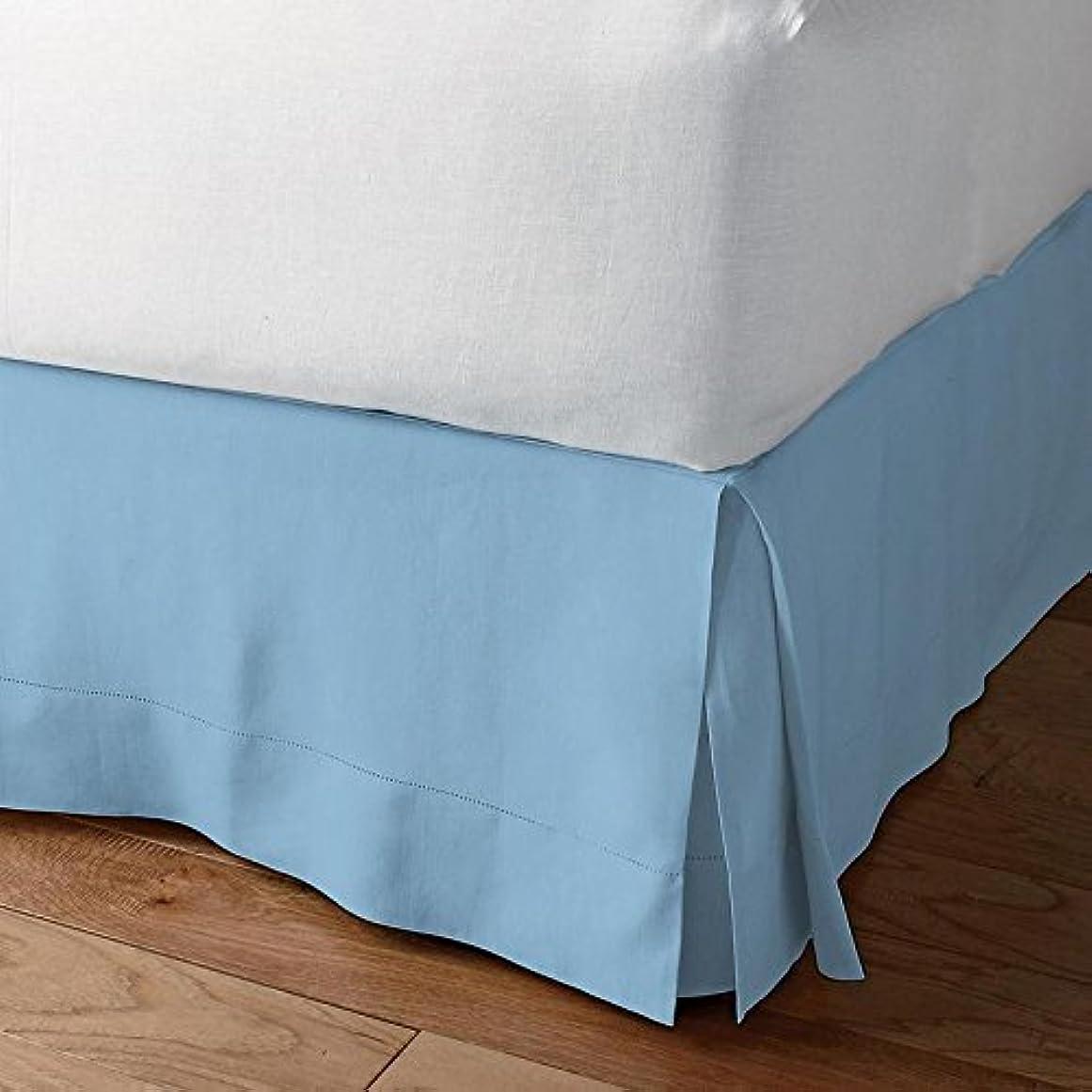 オセアニア操縦する句ベッドAlter 600スレッドカウント豪華な分割コーナーベッドスカート100?%エジプト綿10インチのドロップソリッドすべてのサイズと29色) California King ブルー 1SCBADBSSO246TCASkBlueCK
