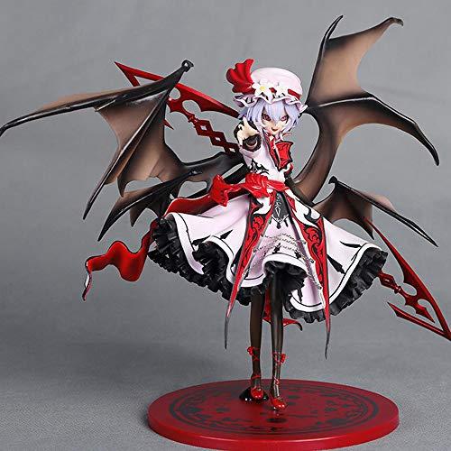 HZLQ Touhou Project Missy Remilia Scarlet Personaje Animado Modelo de Anime Estatua Adornos Animados Colección de Arte de Personajes Figura de Juguete Regalo 25cm