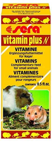 sera Vitamin plus Nager 15ml eine schmackhafte Emulsion aus 12 wertvollen Vitaminen - Multivitamintropfen für Hamster, Meerscheinchen, Kaninchen, Wüstenrennmäuse & Chinchilla