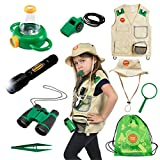 Born Toys Premium Explorer kit for kids With explorer Vest,bug catcher for kids,kids binoculars and kids magnifying glass