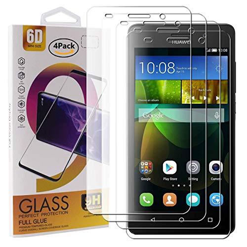 Guran 4 Pezzi Pellicola Protettiva in Vetro Temperato per Huawei G Play Mini Smartphone 9H Durezza Anti-Impronte HD Alta Trasparenza Pellicola