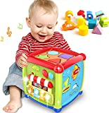RM Store Activity Cube Baby Toy for 6 to 12 Months, Toddler Piano Center Best First Birthday Gift for 1 Year Old Girl Boy, 6 in 1 Busy Learners Educational Toys