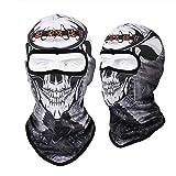 FACQ Hut 1Stück Motorrad Gesicht Maske Coole Robot Skeleton Maske Schal Joker Stirnband Sturmhauben Für Radfahren Angeln Ski