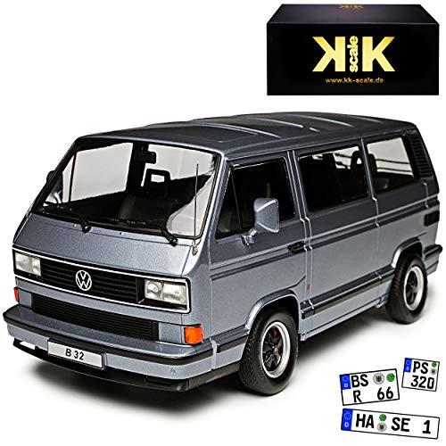 KK-Scale Porsche B32 Basis Volkwagen T3 Bus Multivan Grau Transporter 1979-1992 limitiert 1 von 1000 Stück 1/18 Modell Auto