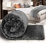 DVC Ultra Soft Luxurious Embossed Very Warm Korean Mink Blanket Double Bed for Winter (Single)