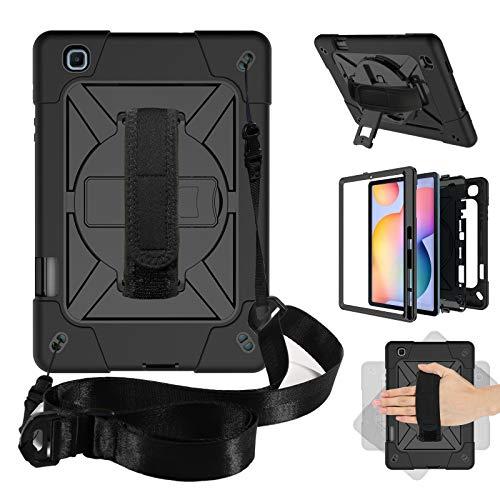 Funda para Galaxy Tab S6 Lite 10.4' con soporte para bolígrafo S, resistente a los golpes, con correa de mano giratoria para Samsung Galaxy Tab S6 Lite 10.4' 2020 SM-P610/P615