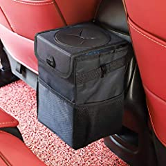 "Compact size and Foldable: It measures 6.3"" Lx9.5""Hx6.3""W. Our garbage bag have 1.85 Gallon/4.5L capacity, The length of adjustable strap is 8 to 43 centimeters. When not in use, you can flatten this trash bag and place it between the seats/ in the p..."