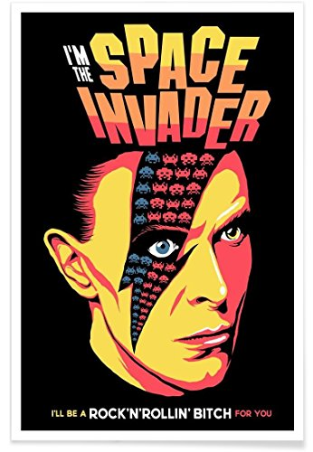 Juniqe® Affiche 20x30cm David Bowie Pop Art - Design Moonage Daydream (Format : Portrait) - Poster, Tirages d'art & Tableaux par des Artistes indépendants créé par Butcher Billy