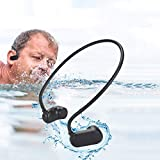 Natación Reproductor de MP3 Bluetooth 5.0 Conducción ósea Auriculares Bluetooth IPX8 Impermeable...