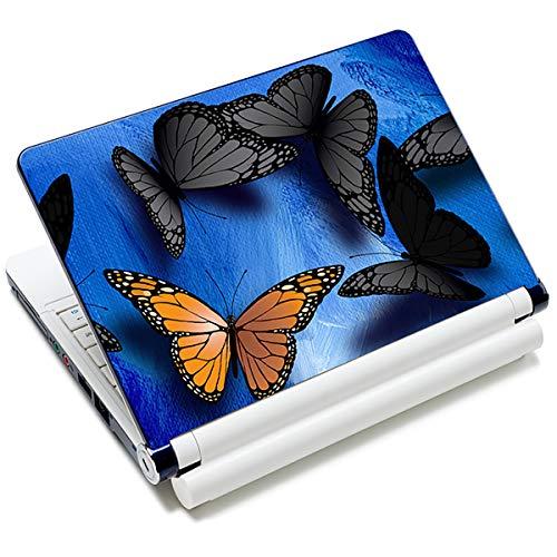Laptop-Aufkleber für Laptops von Toshiba, HP, Samsung, Dell, Apple, Acer, Leonovo, Sony, Asus, Laptops (Schmetterling)