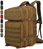 Doshwin Sac à Dos Militaire Armee Tactique Molle de Randonnée Voyage Trekking pour Femme Homme / 40L (Noir)