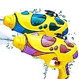 Sunshine smile Wasserpistole Klein,2 Stück Wasserpistolen Set,Wassergewehr für Erwachsene Kinder,Water Gun,Water Blaster,Wasserpistole Spielzeug für Garten,Strand,Pool Wasserspritzpistolen