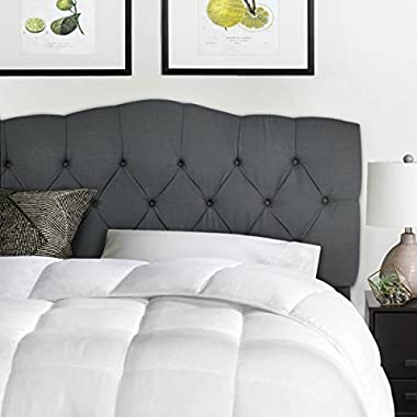 Barton Full/Queen Cotton Upholstered Tufted Button Headboard (Grey)