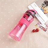 Jusemao Botella de deportes al aire libre libre Bpa botella de agua de deportes 550ml adecuado para fitness, yoga, playa y otros deportes al aire libre-d_550ml