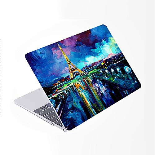 SDH Newest for MacBook Pro 13 inch Case 2020 Release Touch Bar & ID Model: A2338/A2289/A2251, Plastic Pattern Hard Shell & Laptop Sleeve Bag & Keyboard Cover Skin 4 in 1 Bundle, Landscape Painting 10