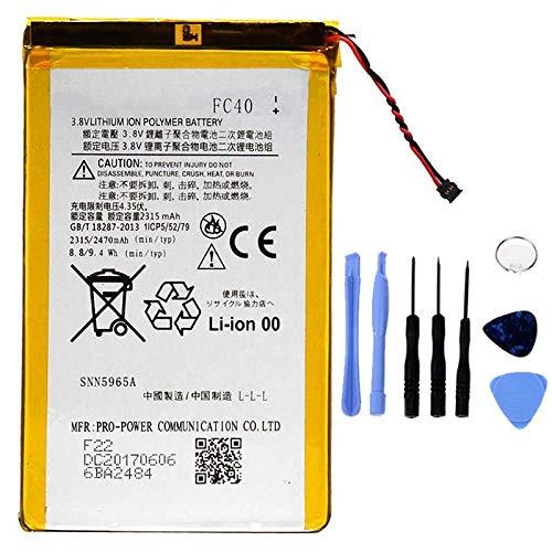 Ellenne Akku kompatibel mit Motorola FC40 Moto G3 3a Gen XT1540 XT1541 AD hohe Kapazität 2470MAH mit Kit inklusive.