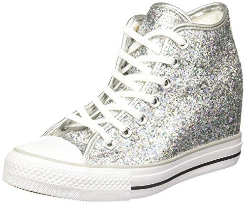Converse - Converse Lux Mid Damenschuhe Silber Glitzer 552698C, Silber, 36 EU