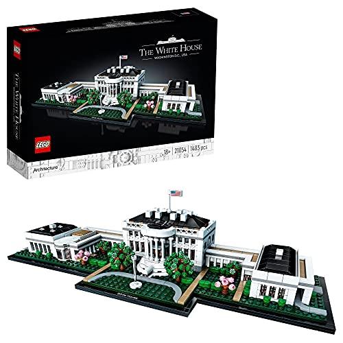 LEGO 21054 Architecture La Maison Blanche, Collection Landmark pour Adultes, idée Cadeau à Collectionner