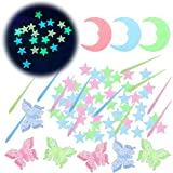 Best Glowing Stars - 221Pcs Glow in The Dark Stars for Ceiling,Colorful Review