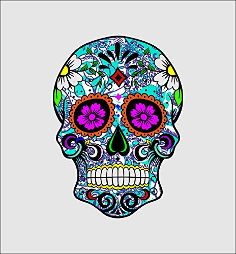 Tamengi Lilly Sugar Skull Sticker/Decal/Vinyl Sticker/Bumper Sticker/Laptop Sticker/Water Bottle Sticker 6inch