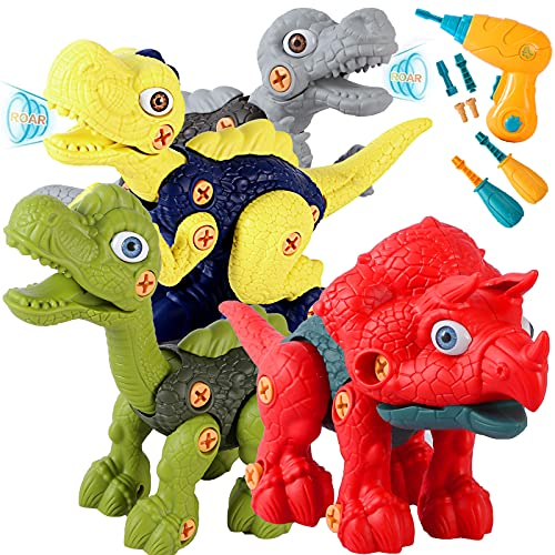 of moving dinosaurs dec 2021 theres one clear winner SZJJ Take Apart Dinosaur Toys for Kids 3-5, Dinosaurs Construction Building Toy Set with Electric Drill, STEM Kids Toys for 3 4 5 6 7 Year Old Boys Girls Birthday Easter Gifts